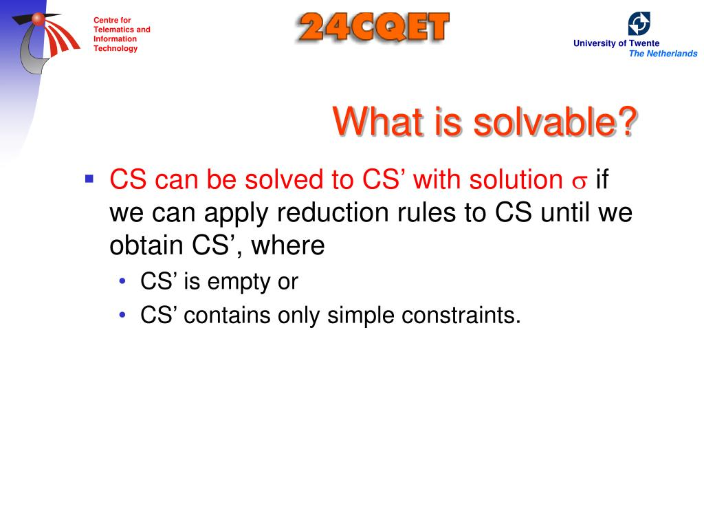 What is solvable?