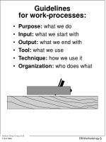 guidelines for work processes
