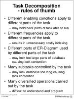 task decomposition rules of thumb