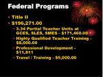 federal programs22