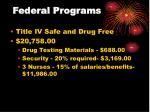 federal programs23