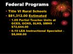 federal programs25