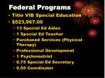federal programs27