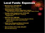 local funds expenses