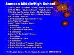 samson middle high school