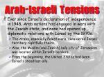arab israeli tensions