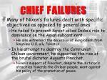 chief failures