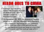 nixon goes to china