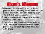 nixon s dilemma