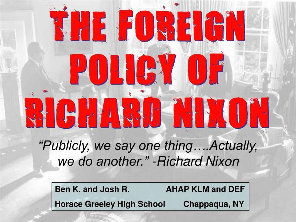 the foreign policy of richard nixon l.