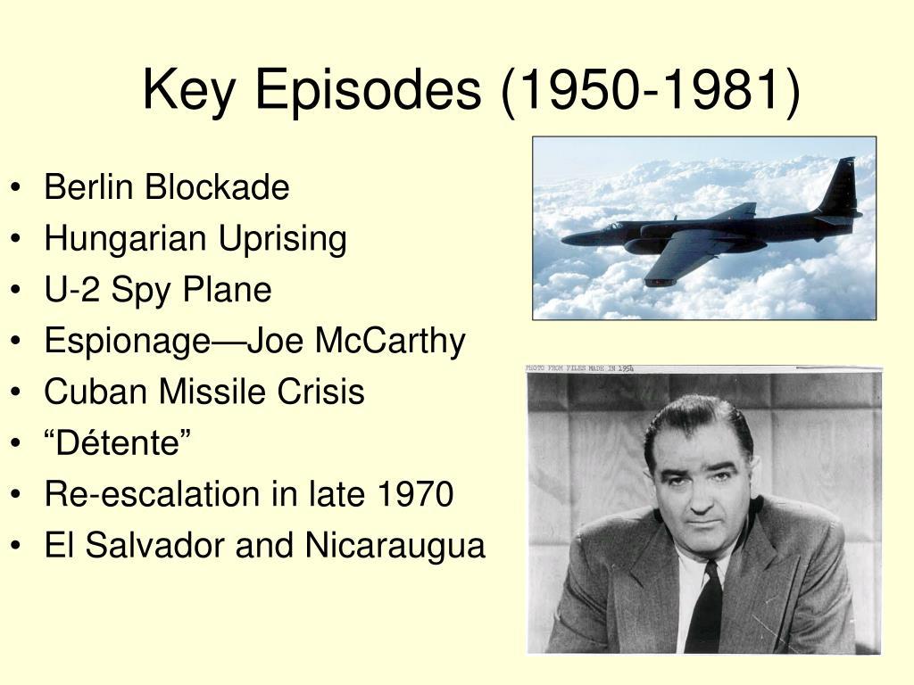 Key Episodes (1950-1981)