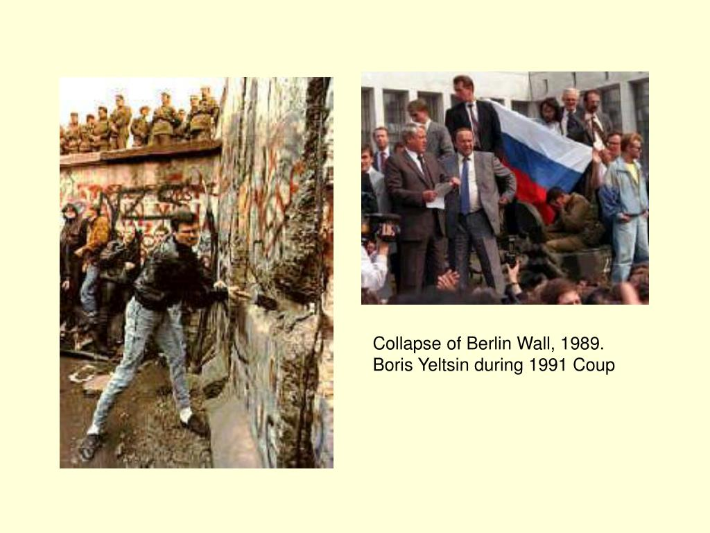 Collapse of Berlin Wall, 1989.