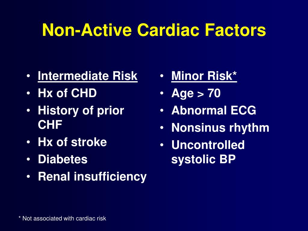 Non-Active Cardiac Factors
