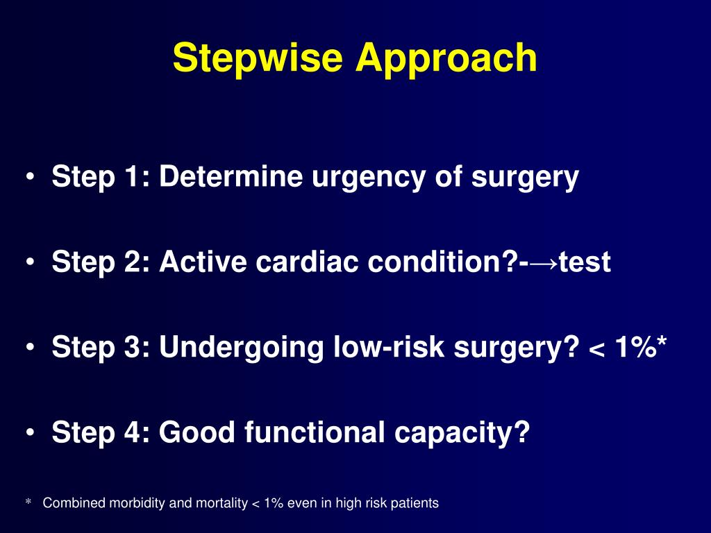 Stepwise Approach