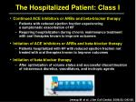 the hospitalized patient class i3