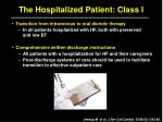 the hospitalized patient class i4