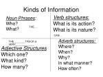 kinds of information