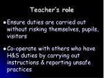 teacher s role