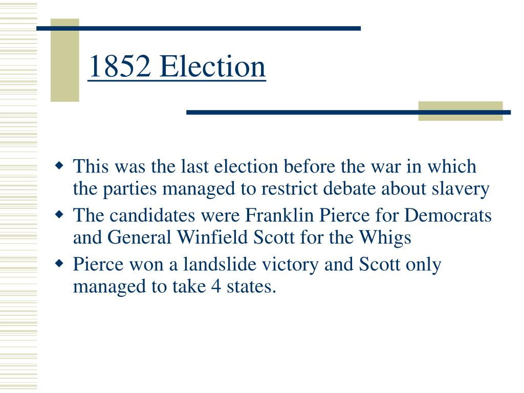 1852 Election