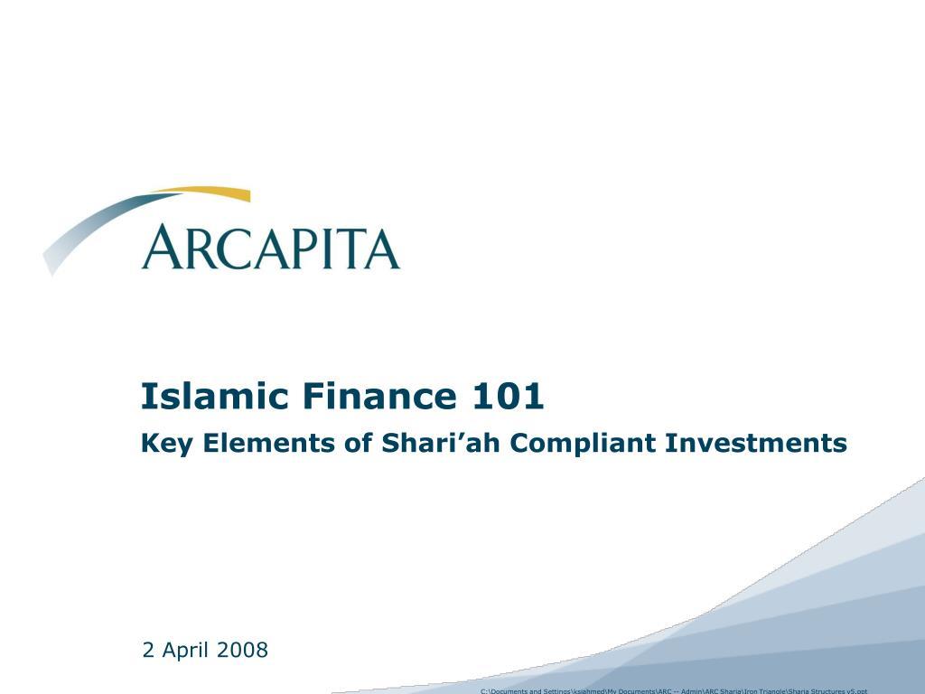 islamic finance 101 key elements of shari ah compliant investments l.