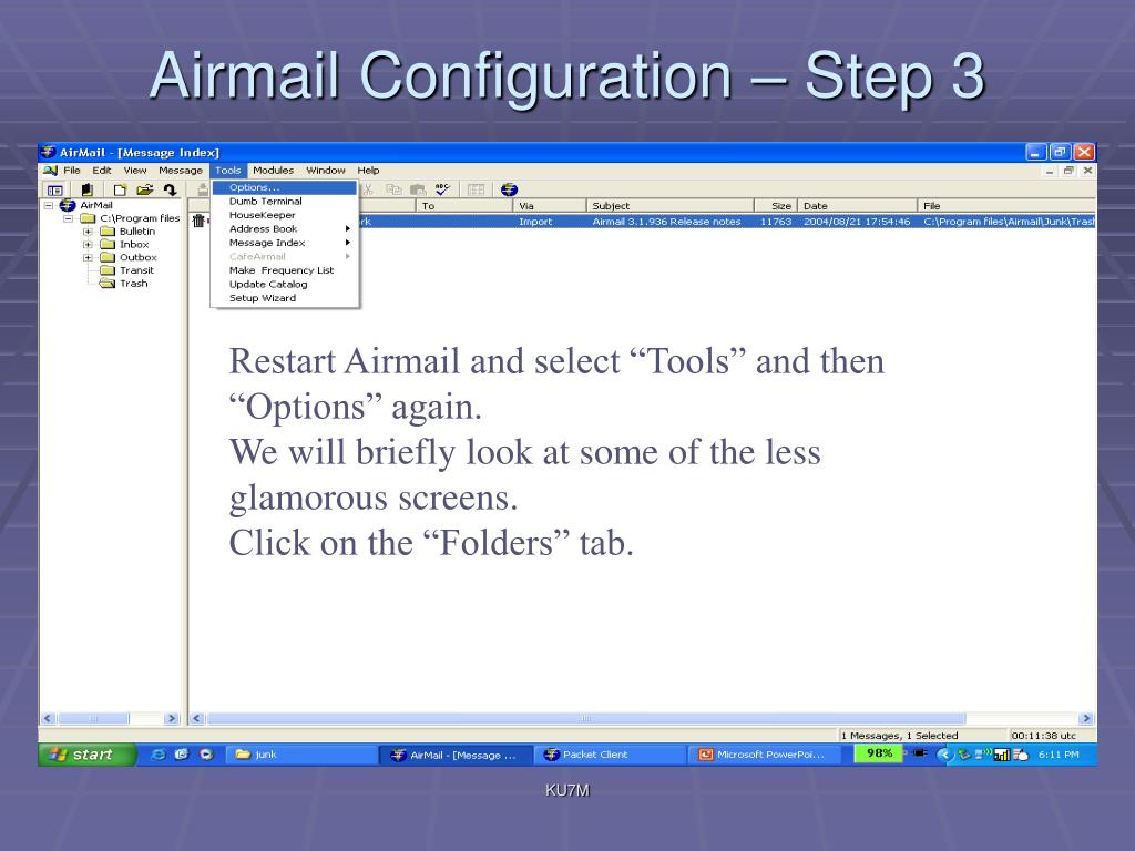 Airmail Configuration – Step 3
