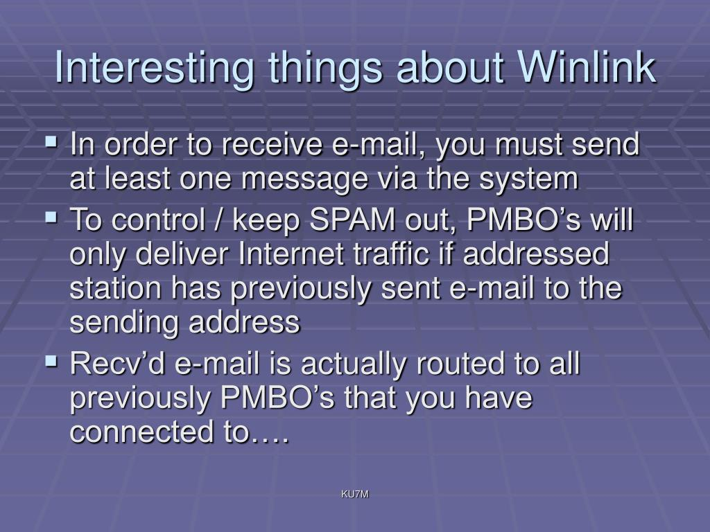 Interesting things about Winlink