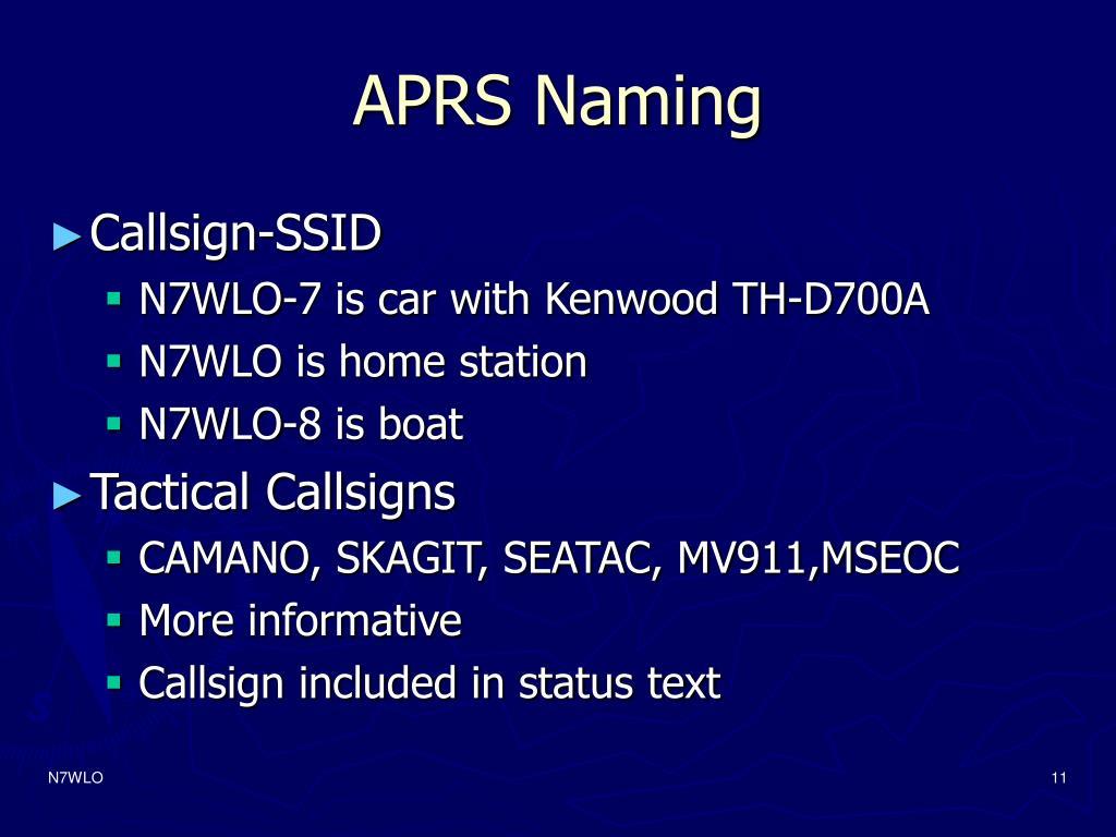 APRS Naming