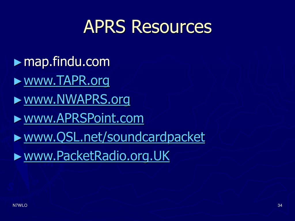 APRS Resources