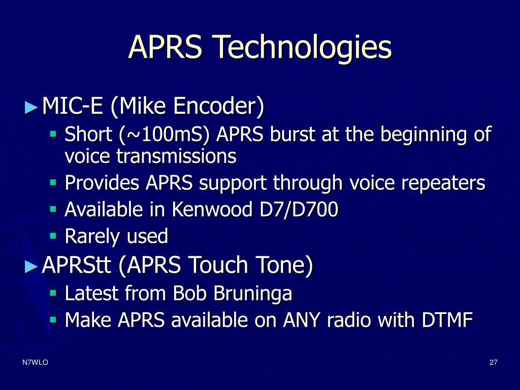 APRS Technologies