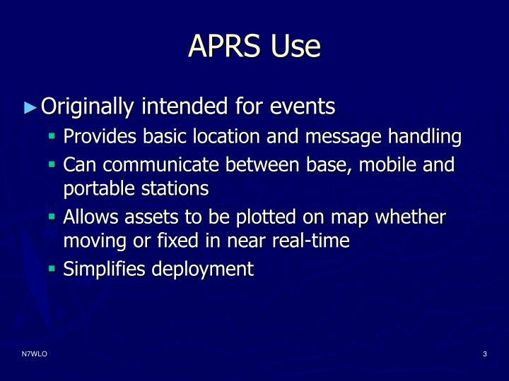 Aprs use