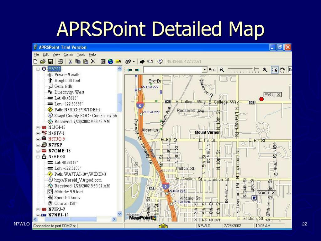 APRSPoint Detailed Map