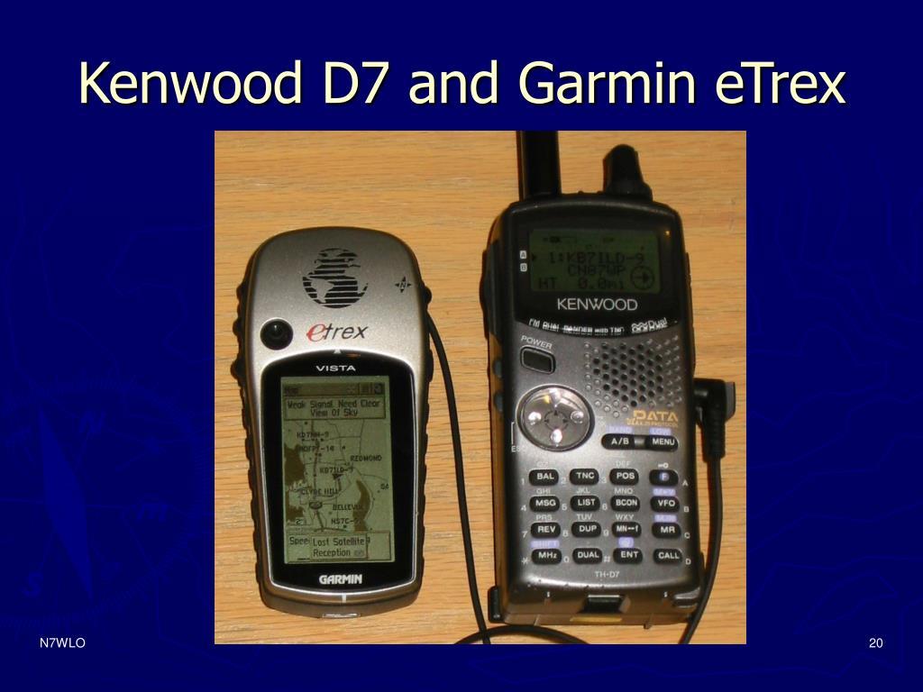 Kenwood D7 and Garmin eTrex
