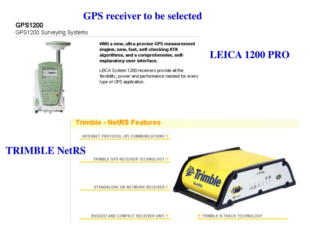 GPS receiver to be selected