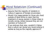 moral relativism continued38