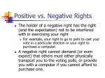 positive vs negative rights