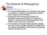 the method of philosophical ethics