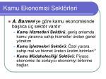 kamu ekonomisi sekt rleri