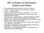 wk 10 modern postmodern spaces and places