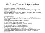 wk 3 key themes approaches