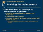 training for maintenance