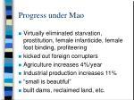 progress under mao
