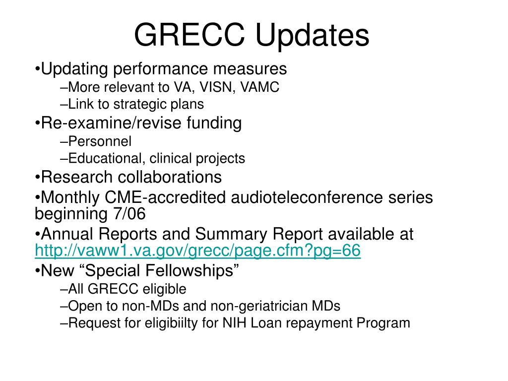 GRECC Updates