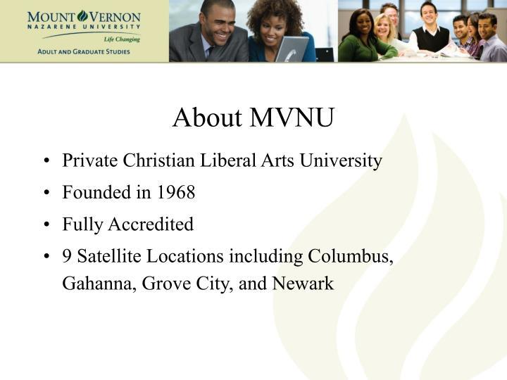 About MVNU