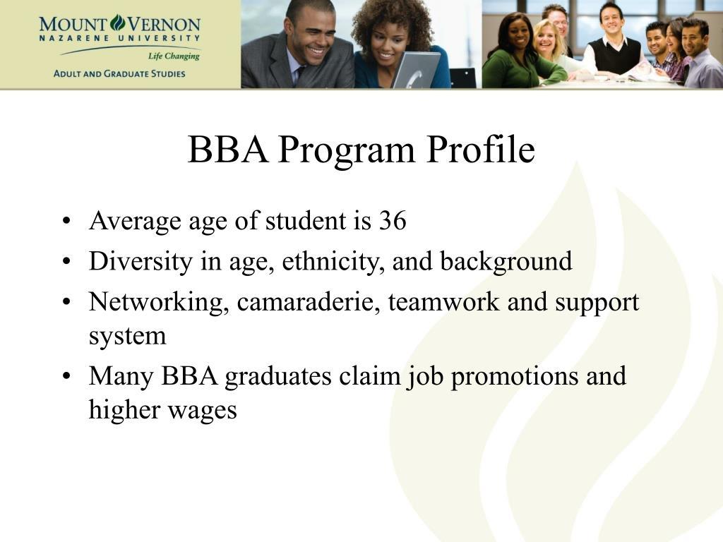 BBA Program Profile