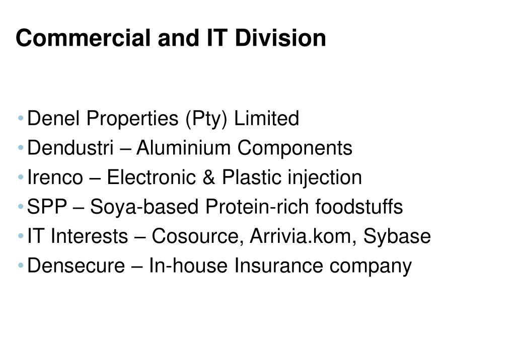 Commercial and IT Division