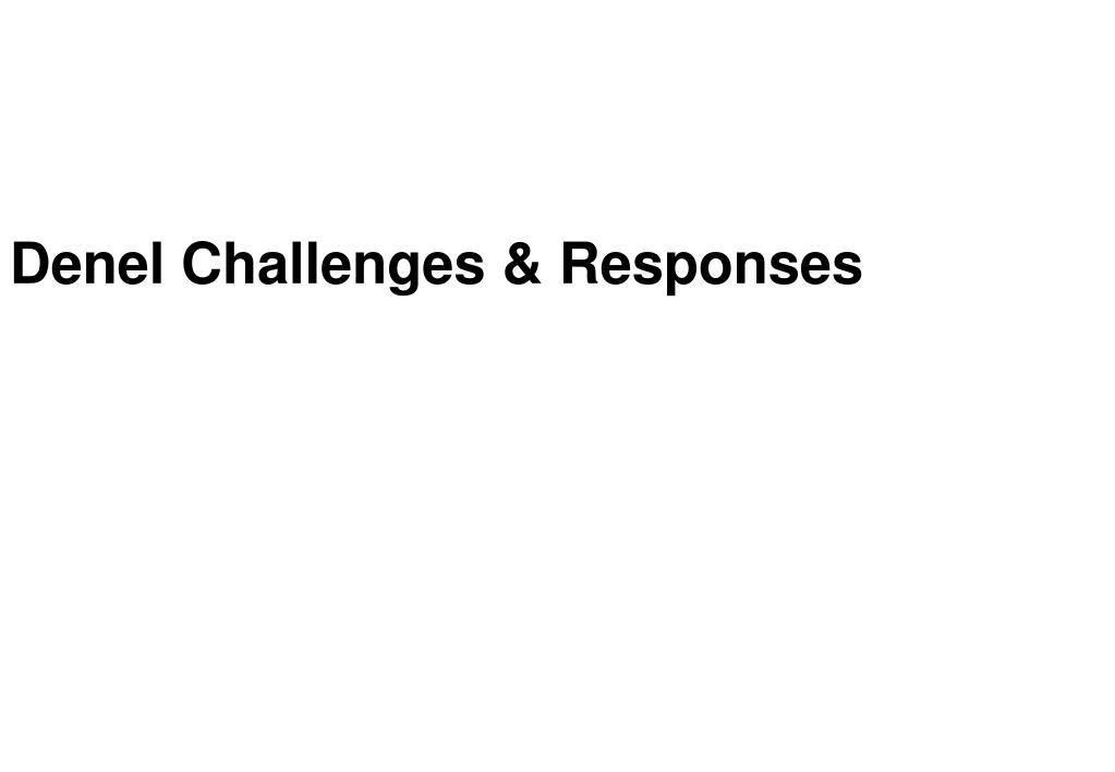 Denel Challenges & Responses