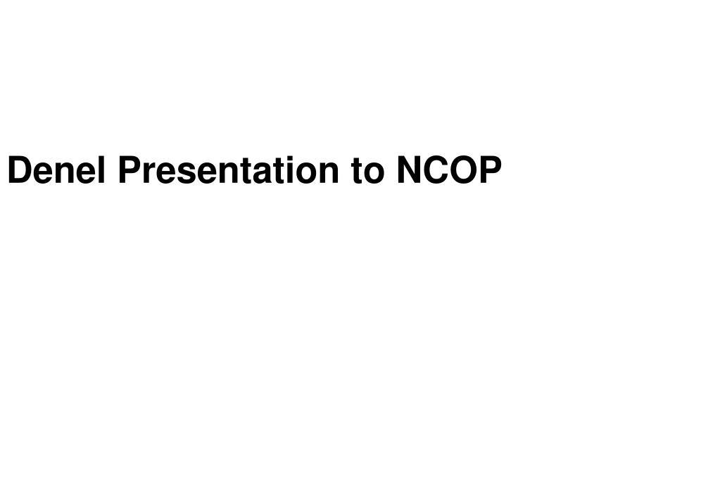Denel Presentation to NCOP