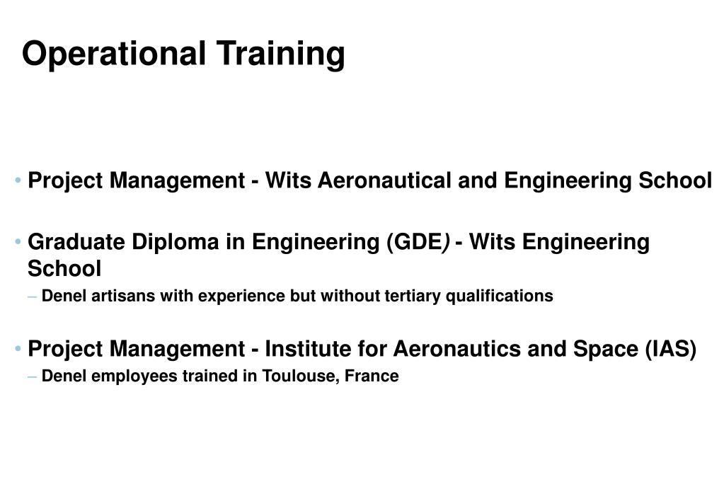 Operational Training
