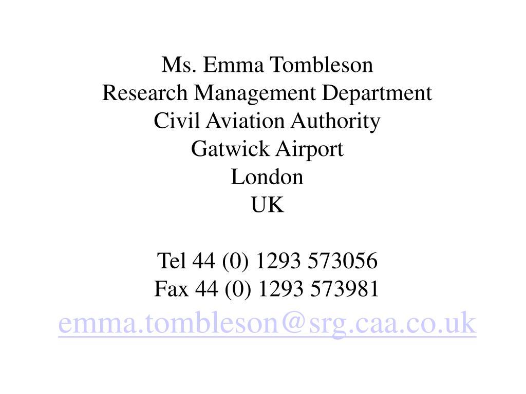 Ms. Emma Tombleson