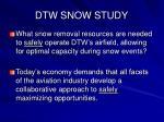 dtw snow study2
